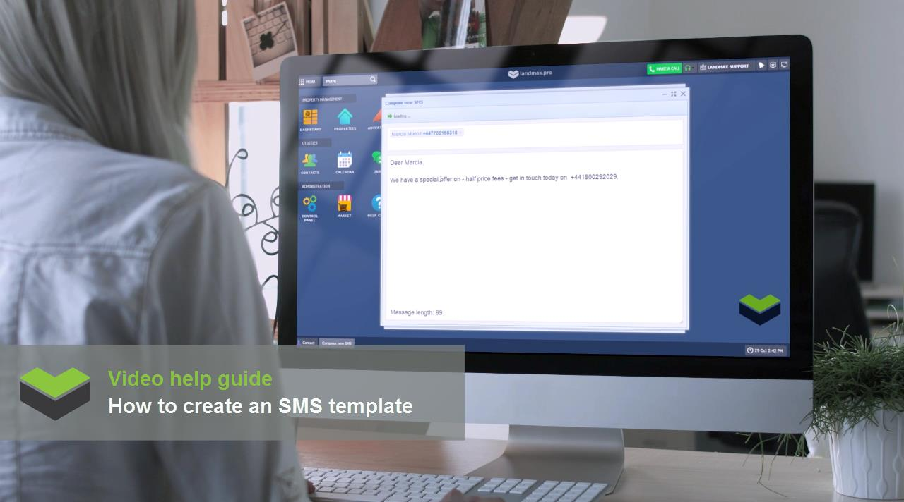 How to create a SMS template to send to multiple contacts