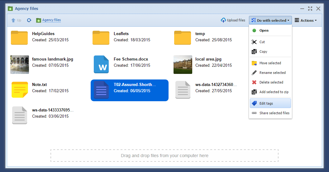 Image of file manager
