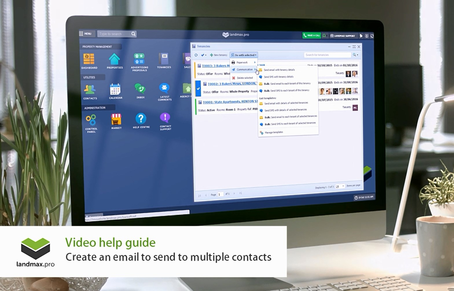 Create email to multiple contacts